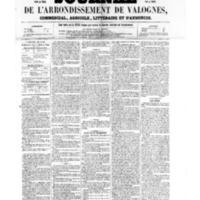 Le Journal de l'arrondissement de Valognes, numéro du 29 avril 1859