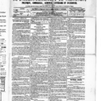 Le Journal de l'arrondissement de Valognes, numéro du 03 octobre 1879