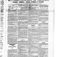 Le Journal de l'arrondissement de Valognes, numéro du 24 octobre 1879