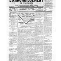 Le Journal de l'arrondissement de Valognes, numéro du 24 novembre 1934